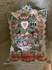 Vintage Collectible Ambassador Pop Up Die Cut Valentine Card Windmill w/ Cherubs