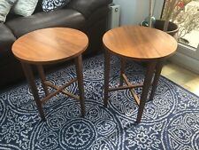 2 G-Plan Folding Round Teak Side Table Plant Stand - Very Good Condition