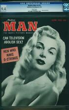 MODERN MAN VOLUME 4 # 12 CGC 9.4 WHITE PAGES BETTY PAIGE CAN TV ABOLISH SEX ? A0