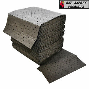 GRAY BONDED ABSORBENT PADS UNIVERSAL OIL GREASE (100 PER CASE)