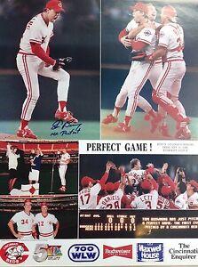 Tom Browning Autographed Perfect Game  poster 1988 Cincinnati Reds SGA Poster