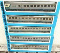 Märklin 4256 2 x, 2 x 4256, 4257 5 Stück Silberlinge-Wagen DB Epoche 4 mit Licht
