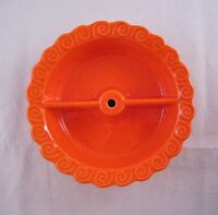 Vintage Mid-Century Modern SANTA ANITA WARE, Orange Tier Serving Bowl Dish MCM