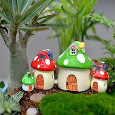 New listing Mushroom House Miniature Garden Ornament Diy Craft Pot Fairy Dollhouse Decor Red