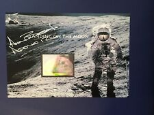 Apollo 12 Astronaut Alan Bean Signed Sheet of Landing on the Moon $11.75 Stamps