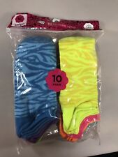 Total Girl 10 Pair No Show Socks Girls' Shoes Size L 4-10
