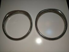 Volvo 164/160 Chrome Headlight Surrounds Vintage Rare Classic