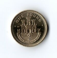 * RARO * 1988 Gibilterra £ 1 Uno Pound Coin UNC STEMMA