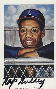 """Napoleon """"Nap"""" Gulley Autographed Ron Lewis Negro Leagues Postcard (d 1999)"""