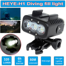 50m LED Waterproof Video Fill Light Diving Lights for Gopro Hero 4 3+ 3 2 SJCAM