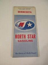 Vintage 1968 North Star Minnesota Oil Gas Station Travel Road Map