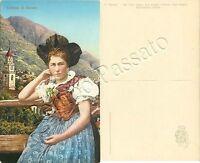 Cartolina di Merano, costume tradizionale - Bolzano
