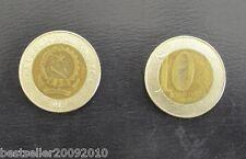 ANGOLA 10 KWANZA BIMETAL COIN # 2143