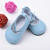Handmade Blue Shoes for 18 inch Girl Doll Kids Baby Gift 7.3cm New Gift