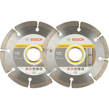 2Pack Bosch Angle Grinder Diamond Cutting Blades 115mm 061599749J 3165140704939X