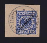 Caroline Islands #4a (1899) 20pf ultramarine Eagle Issue of Germany Overprinted