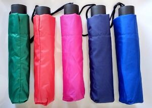 Compact Folding Umbrella Windproof Anti-UV Sun/Rain Multiple Colors US Seller
