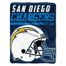 "New NFL San Diego Chargers Soft Micro Rasche Large Throw Blanket 46"" X 60"""