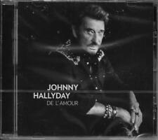 CD 10 TITRES JOHNNY HALLYDAY DE L'AMOUR DE 2015 NEUF SCELLE
