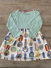 Mini Boden - Girls Jersey Dress - Medal and Stripe Pattern - Size 6 / 7