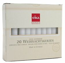 """Eika 20 Pieces Christmas Tree Candle Set Made in Germany, 4.1"""", White"""