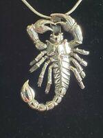 925 Sterling Silver Scorpion Pendant Includes Italian Snake Chain