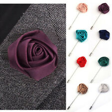 Women Men Rose Flower Lapel Brooch Pin Suit Tuxedo Wedding Metal Boutonniere
