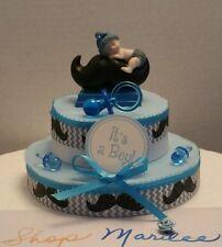 LITTLE MAN MOUSTACHE BABY SHOWER CAKE TOPPER TABLE DECORATION FAVOR FIGURINE