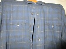Polo by Ralph Lauren , Men's Sweater / Shirt , Size XL , Blue Plaid