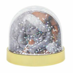 Blank SNOW Dome Glitter Xmas Globe Insert Photo Personalised Gift - 70x62mm