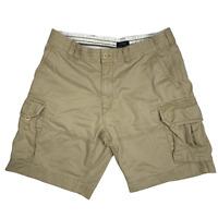 """Polo Ralph Lauren Cargo Shorts Flat Front Solid 11"""" Cotton Slim Fit Men Tan 38"""
