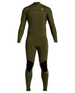 Billabong 5/4 Furnace Absolute Back-Zip GBS Full Wetsuit Junior sz 12 Olive New