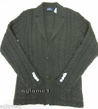 NEW POLO RALPH LAUREN Thick cable Wool cashmere CARDIGAN SWEATER S Small