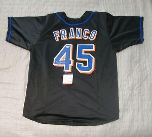 JOHN FRANCO Mets Autographed signed Custom  Baseball Jersey PSA COA sz XL