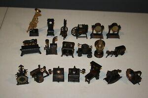 Vintage Die-Cast Metal Brass Pencil Sharpener Miniature Lot 19