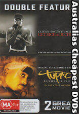 Get Rich Or Die Tryin & Tupac Resurrection DVD NEW, FREE POSTAGE IN AUST REG 4