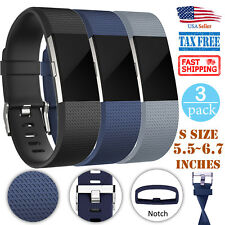 3 PACK Replacement Bracelet Watch Band Strap Fitness For Fitbit Charge 2 Small