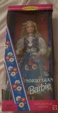 Norwegian Barbie Doll 1995 Dolls Of The World Collect. Mattel #14450 Nib Nrfb