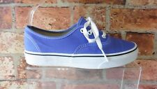 VANS PURPLE IRIS WHITE LOW TRAINERS UK 5 WORN ONCE BOXED  REF:PP