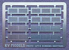 ETCHED INTAKE SCREENS & SHUTTERS FOR PROTO GP7 & GP9 HO SCALE KV MODELS KV-152H
