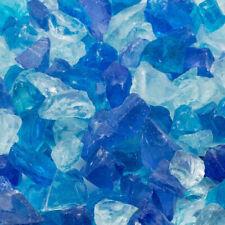 Landscape Fire Glass 25 lb. Bag Medium Blue Tumbled Glass Decorative Stones