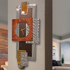 Modern Abstract Pendulum Clock Metal Wall Art Sculpture Original Home Decor