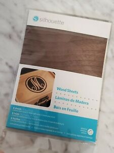 Silhouette Wood Sheets Dark, Light, and Gray Colors Crafting