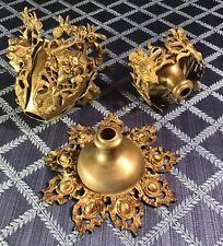 New Listing1870s Baroque Renaissance Revival Hanging Brass Oil Lamp Parts lot Rare