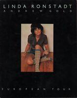 LINDA RONSTADT 1976 HASTEN DOWN THE WIND EUROPEAN TOUR PROGRAM BOOK / VG 2 EX