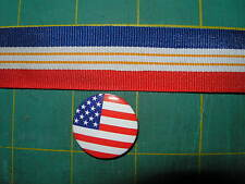 5 Yards  VTG RED WHITE BLUE FLAG RIBBON TRIM PATRIOTIC  4TH JULY WORk and more,