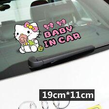 Cute Hello Kitty Baby In Car Decal Car Sticker - 1pc