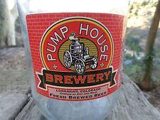 64oz BEER GROWLER ~ PUMP HOUSE Brewery ~ Longmont, COLORADO ~ Fresh Brewed