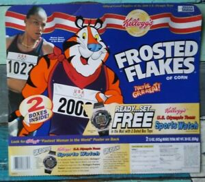 Frosted Flakes box featuring Marion Jones 2000 Sydney Olympics collectible