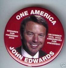12/28/2006 John EDWARDS Announced for   PRESIDENT pin